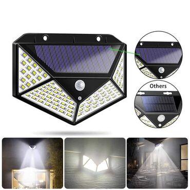 Cena 1330 dinSolarna Lampa Reflektor - 100 LED lampicaOsvetlite