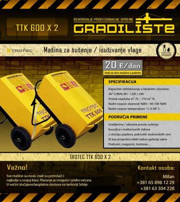 Masina za susenje / isusivanje vlage 120l/24h 2 x Trotec TTK - Vrsac