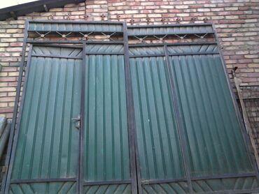 цены-на-шифер в Кыргызстан: Продаю ворота с колиткой встроенной во внутрь без столбов ширина3,30