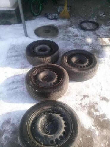 диски на камри 55 r17 в Кыргызстан: *Продам все 4 колеса!!! От 124 мерседеса R16!!