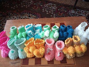 шапочки и пинетки зефирки в Кыргызстан: Пинетки теплые и красивые на подарок . по тел лариса
