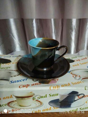 fuzhery-6-sht в Кыргызстан: Чайный набор керамика 6 чашечек и 6 блюдечек новые в коробке
