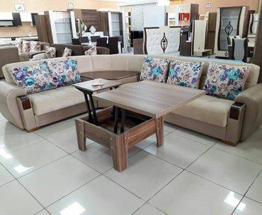 Bakı şəhərində Kunc divan, masali, olcu 330x270, acilan bazali, fabrik istehsali