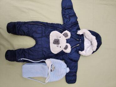 Комбенизон зимний на мальчика 0-3 м внутри подклад хб от турецкого