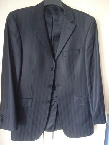 Crne pantalone - Srbija: Prodajem muško odelo veličine 48, crne boje, u kompletu sako i pantalo