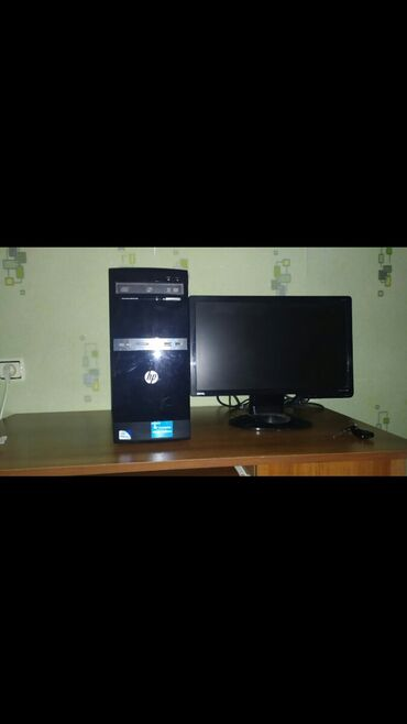 Masaustu kompyuter.HDD-200, Ram-2, DDR-3-775, 19-luq monitor. qiymət