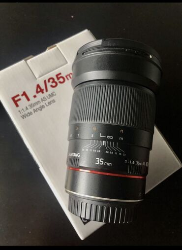 Объектив Samyang 35mm f1.4 (canon ef)  Очень светосильная и качественн