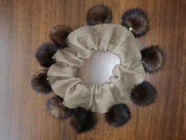Резинка для волос из натуральной норки