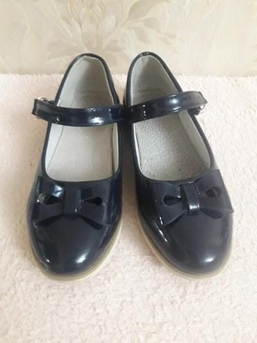 """туфли зелёного цвета в Кыргызстан: Туфельки!! лаковые!!! цвет темно синий)))фирма""""Совенок""""в хорошем"""