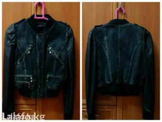 джинсовый пиджак в Кыргызстан: Стильный джинсовый пиджак от DLF jeanplay(Турция). рукава эко кожа