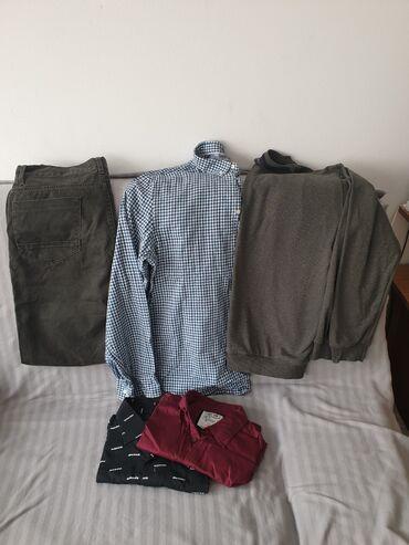 Muska kosulja 2 - Srbija: Paket muske garderobe, koton pantalone l, 2 koton kosulje l i xl, i
