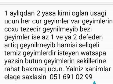 Bakı şəhərində Watsap var yaza bilersiz usaq geyimleri satilir