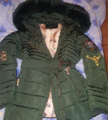 Parka-model-sa-bogatim-krznom-sezonsko - Srbija: Zenska zimska jakna parka, maslinasto zelena sa krznom, M velicina