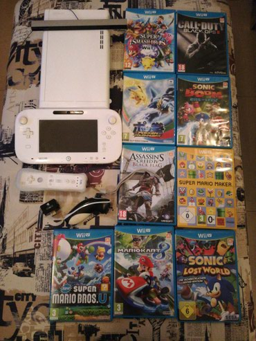 Wii u+9 games+wii controller and nuck chuck σε Καρλόβασι