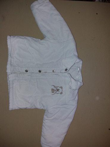 Dečije jakne i kaputi | Leskovac: Jaknica vel 86 cisto bela, topla za zimu. Sitan somot