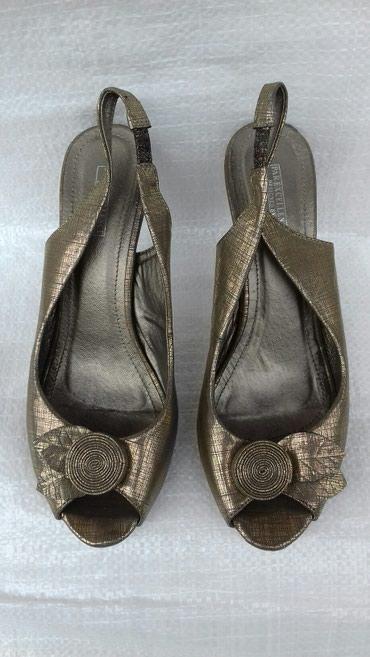 Zlatne-patike-br - Srbija: Zlatne sandale br.40 vestacka koza