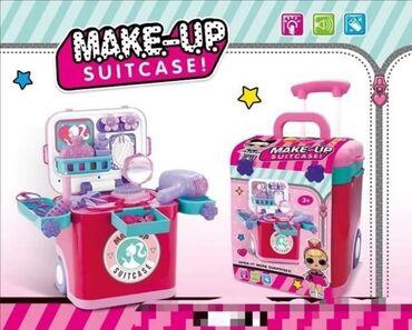 Torba kofer set za ulepšavanje na točkiće Svaka devojčica sanja o