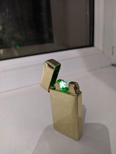 Электронная зажигалка, работает автоматически без нажатия, заряжается