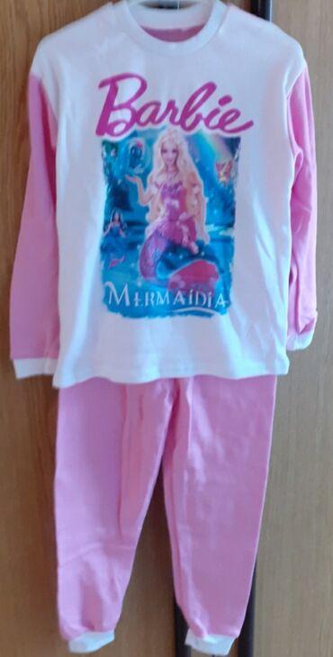 Dečija odeća i obuća - Sremska Kamenica: Pamučne pidžame za devojčice, veličina 6