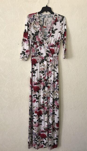 Продаю новое платье в пол Турция дёшево, М размер, вискоза хлопок