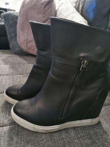 Kozne polu cizme Na punu petu U odlicnom stanju