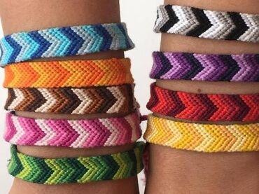 Цепочку и браслет - Кыргызстан: Продаю браслеты, фенечки ручной работы. от 200 и выше есть мужские и ж