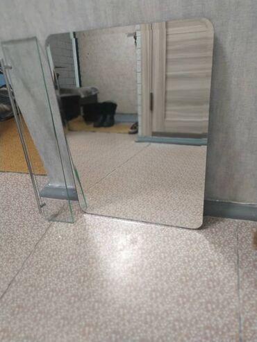 зеркало в комнате в Кыргызстан: Продаю зеркало для ванной комнаты. Размеры 44*59 см.В комплекте