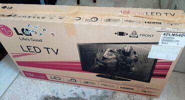 телевизор lg с плоским экраном в Кыргызстан: Продается б/уLG-телевизор 106см [42] LED TV Модель: 42LN540V Принимае