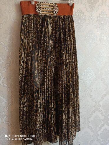 Леопардовая юбка размер-44