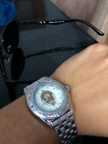 Bakı şəhərində Kişi Gümüşü Hərbi Qol saatı