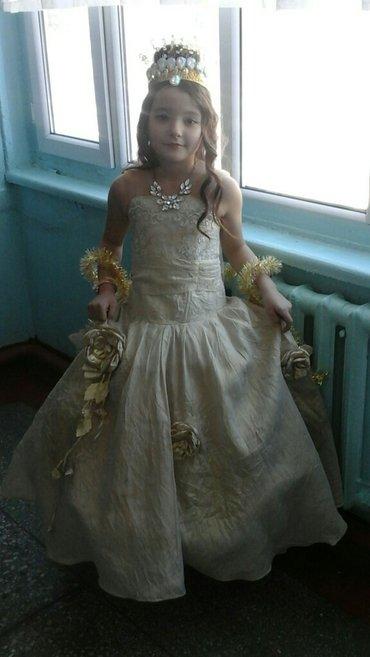 Платье золотое пышное для девочки   на в Бишкек