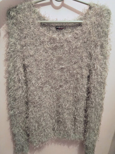 Ženska džemperi - Srbija: Danas 400! Terranova cupavi sivi dzemper, velicina S, moze i za M, bas