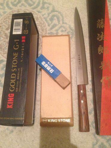 Продается новый нож для суши и камень для заточки