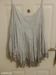 N o v o!!!!! Siva suknja kvalitetna moderna za svaku priliku - Crvenka