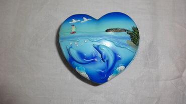Шкатулка дельфины 10*10 см