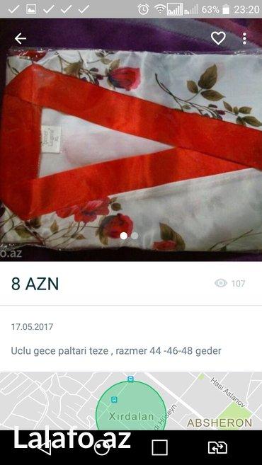 Bakı şəhərində Gece paltari uclu