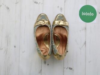 Туфли женские на каблуку з платформою,р.39 Длина подошвы: 24 см Каблук