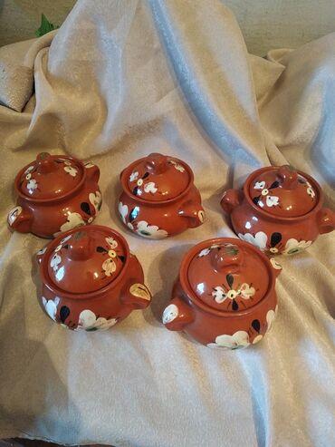 Набор посуды глиняные горшки . Производство СССР в отличном состояни