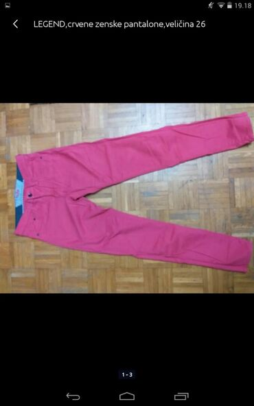 LEGEND crvene zenske pantalone veličina 26