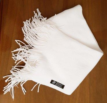 """шарф """"demas"""" турция, новый, цвет белый, длина 180см, ширина 17см в Бишкек"""