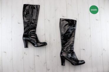 Жіночі чоботи Clarks, р. 39   Матеріал: натуральний лак Висота підбора