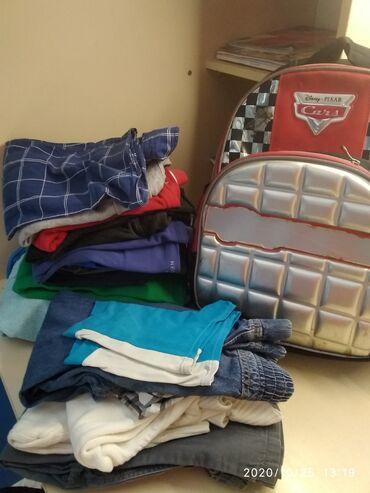 Пакет вещей(на мальчика 6-8 лет), футболки,кофты, рубашки,все