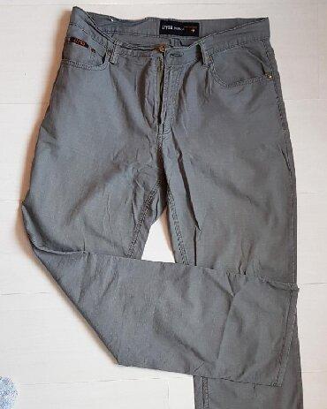 Muške Pantalone | Beograd: Pantalone sive Par puta nosene Lan