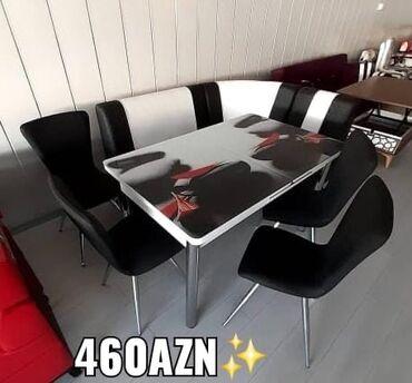 Orginal Turkiye istehsali metbex Divan+Masa+4stul 460 Azn Masa acilir