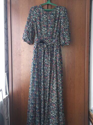 турецкое платье шифон в Кыргызстан: Продаю турецкое платье.В отличном состоянии. Материал шифон с подкладо