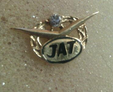 Značke, ordeni i medalje | Srbija: Zlatna znacka JAT- a, zig 583