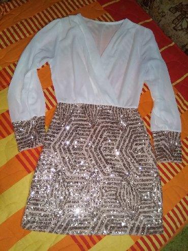 Haljina bolje stoji punijim osobama duzina materijal pa - Srbija: Nova haljina, univerzalna vel.  Uplata pa slanje