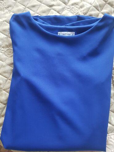 dresses в Кыргызстан: Продаю синее платье. Длина по колено,турецкое,размер 38(+6) по нашему