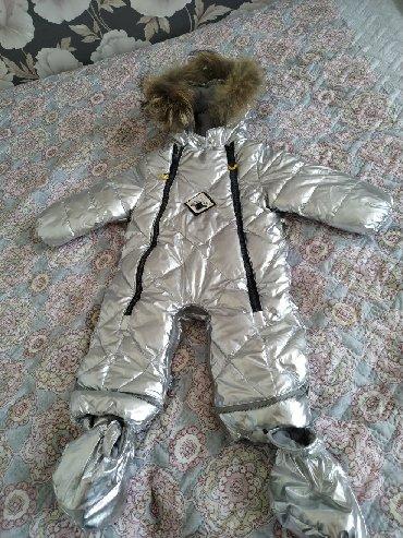 Комбинезон зимний от 6 мес до 2х лет. Один раз одели, так как всю