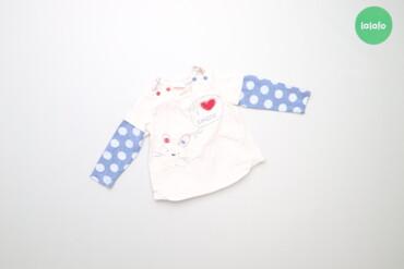 Топы и рубашки - Синий - Киев: Дитяча тепла кофтинка з рукавами в горох Chicco, вік 15 міс., зріст 80